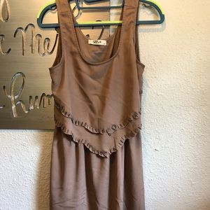 Tan beaded dress